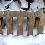 батарея в снегу