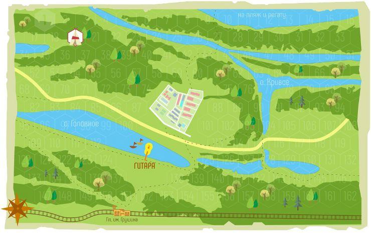 Интерактивная карта Грушинского фестиваля