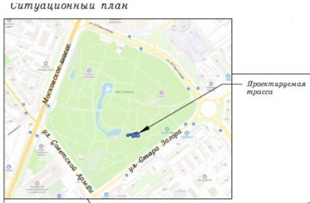 Место строительства новой картинг трассы в парке Гагарина