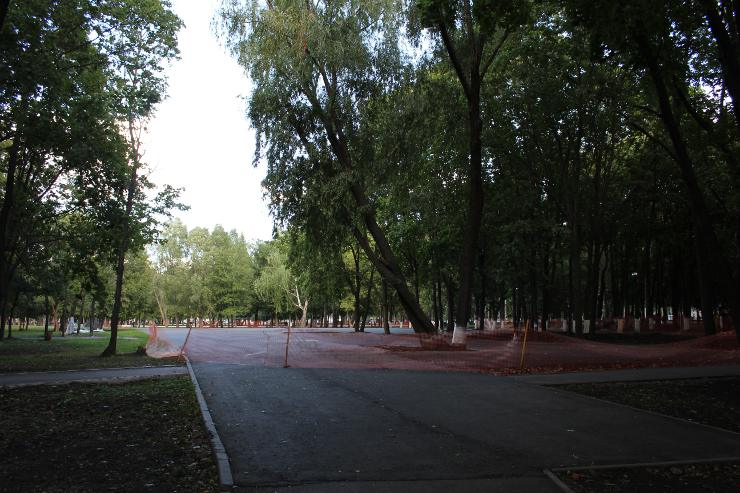 Место возможного строительства картинг-трассы в парке Гагарина