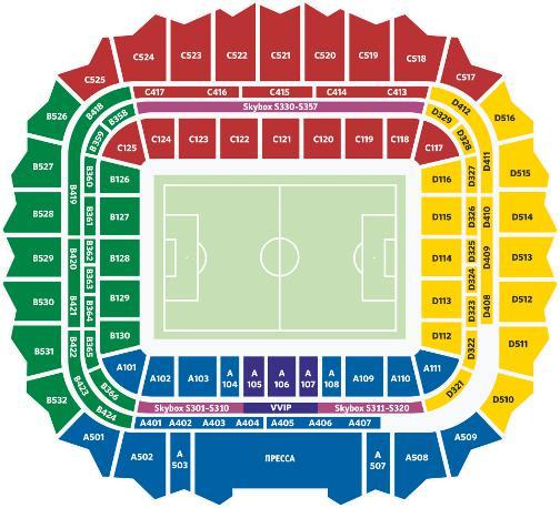 стадион самара арена места